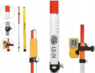 Łata laserowa do niwelatorów NIVEL SYSTEM LS-24