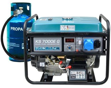 Agregat prądotwórczy KONNER & SOHNEN KS 7000E G + Olej + Zestaw Transportowy