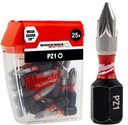 Bit udarowy MILWAUKEE SHOCKWAVE IMPACT DUTY PZ1 25mm 25szt